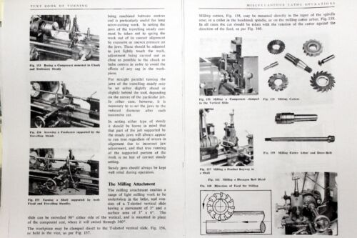HERCUS how to operate a Lathe 109 Page Manual /& instructions Terrific book
