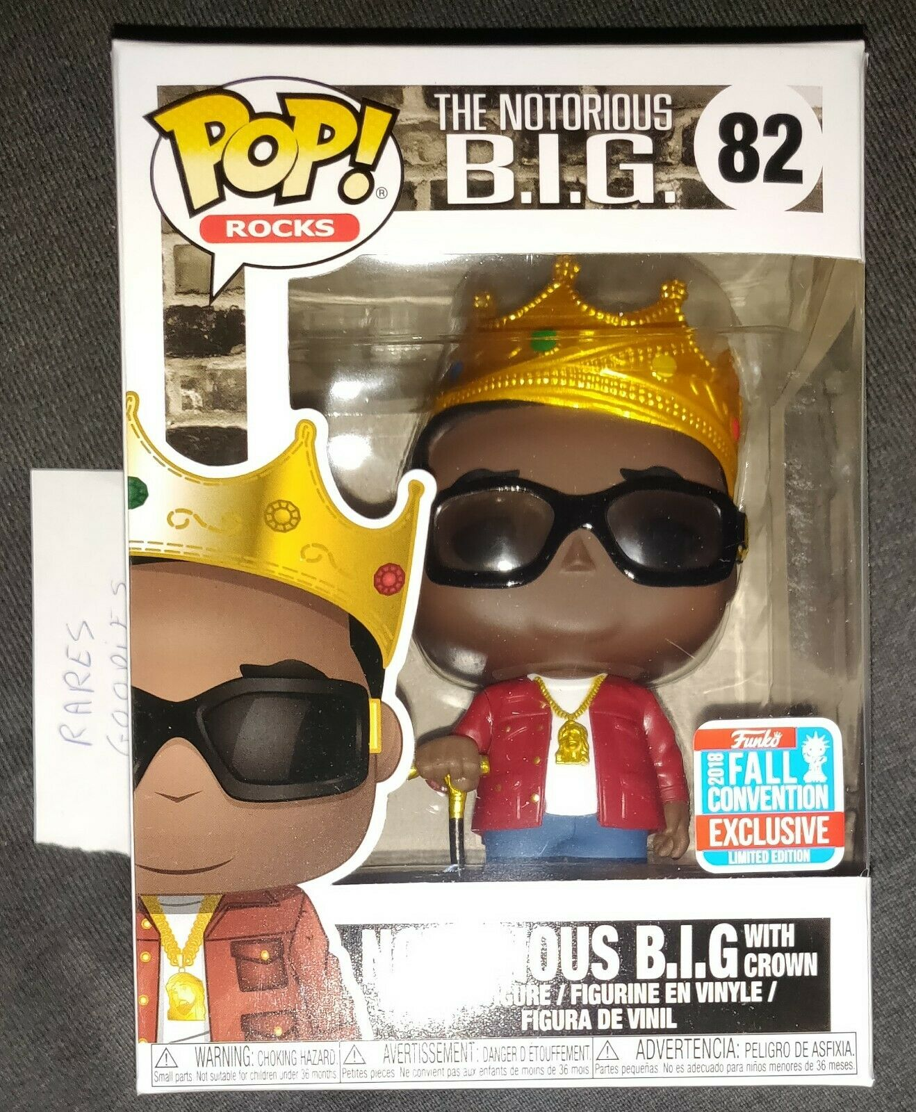 Funko POP  - Notorious B.I.G. 8   82 BIG with Crown NYCC 2018 exclusive