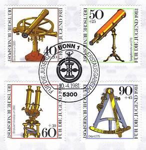 BRD-1981-Optische-Instrumente-Jugendmarken-Nr-1090-1093-Bonn-Stempel-1A-1908