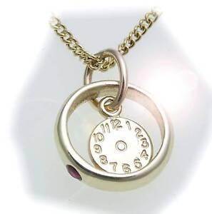 Set Taufring mit Uhr /& Panzerkette Rubin 585 Weißgold Qualität