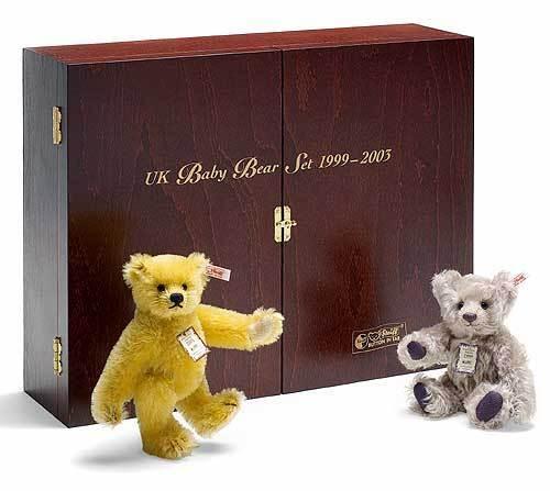 NUOVO Set Di Lusso Steiff orso teddy mohair 5 1999-2003 REGALO IDEALE Ltd 662225