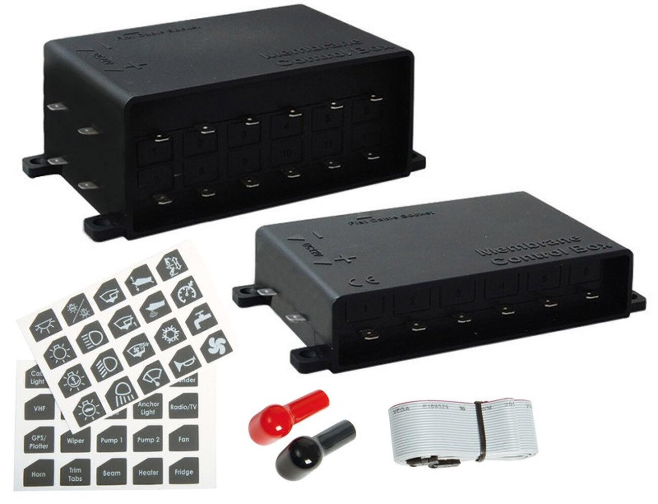 Elektrische Schalttafel Touch Touch Schalttafel Control ultradünn 6 / 12 Schalter Stiefel-Elektronik ca7fa7