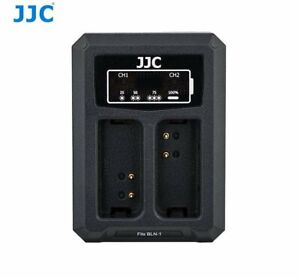 JJC-DCH-BLN1-USB-Dual-Battery-Charger-for-Olympus-BLN-1-JJC-B-BLN1