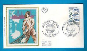 1982-ENVELOPPE-SOIE-1-JOUR-SAINT-PIERRE-amp-MIQUELON-TIMBRE-Yt-2193