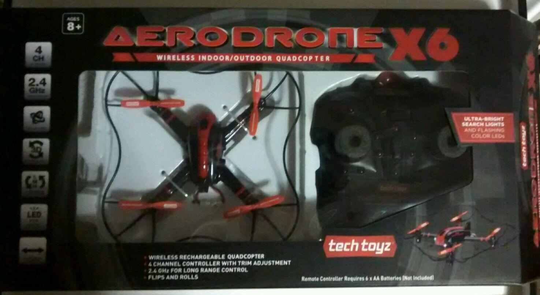 Tech Toyz Aerodrone X6 4 Channel RC Quadcopter Drone RTF RTF RTF UFO 531a39
