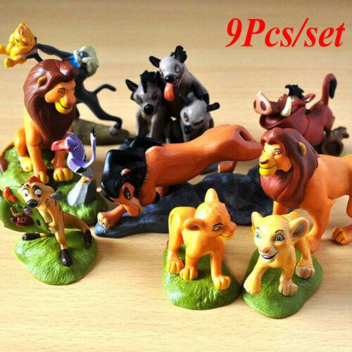 Cartoon Lion King Simba Nala Playset 9 action figure movie Kids Toy Doll Set Nouveau