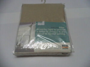 New-Sheer-Beige-Curtain-Scarf-216-034-W-X-59-034-L-Polyester-Martha-Stewart-Taupe