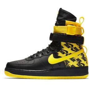 Nike Air Force 1 High SF AF1 Size 9 Special Field Yellow Logos ... eaf28b47d
