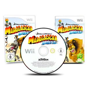 Nintendo-Wii-Jeu-Madagascar-Kartz-Wii-Emballage-D-039-Origine-avec-Manuel