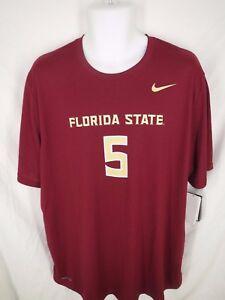 Florida-State-Seminoles-5-Mens-Sizes-S-L-XL-Nike-Dri-Fit-Shirt-MSRP-34