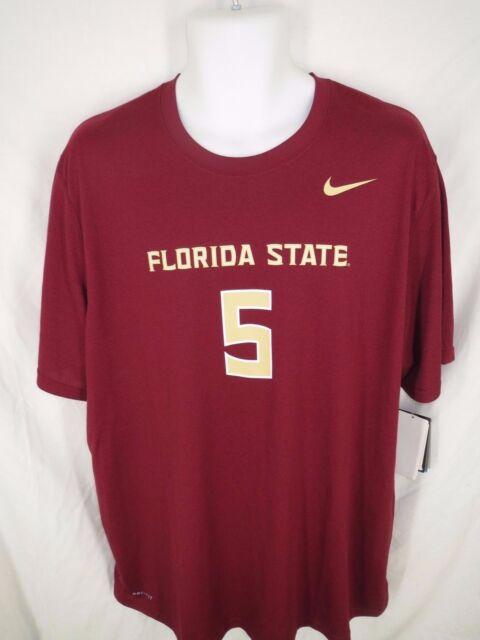 Florida State Seminoles #5 Mens Sizes S/M/L/XL Nike Dri-Fit Shirt MSRP $34