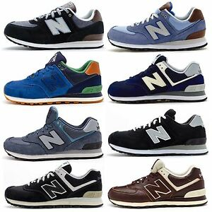 sports shoes 60057 ad9f2 Image is loading Mens-New-Balance-ML-574-Classic-Retro-Trainers-