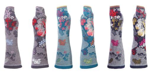 IVKO armstulpen gants pullwarmers Franges Fleurs Brocade Flowers 52741