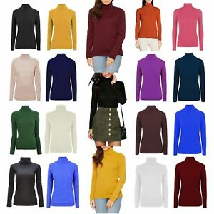 WOMENS-LADIES-HIGH-ROLL-POLO-NECK-KNITTED-RIBBED-JUMPER-SWEATER-TOP-UK-PLUS-SIZE