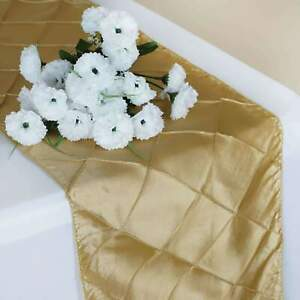 New-Pintuck-Table-Runner-Wedding-Party-Banquet-Decoration-15-Colors