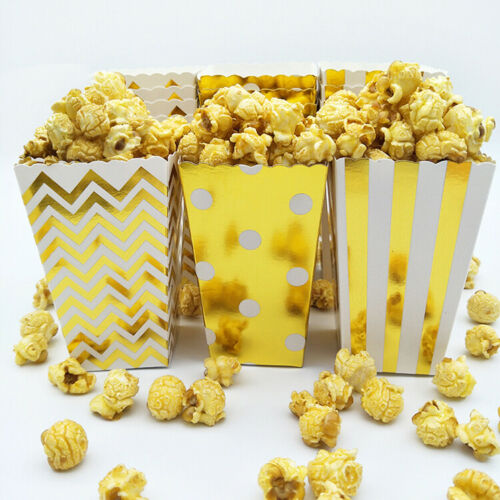 25x Popcorn Boîtes Movie Pack Hollywood Fête D/'Anniversaire HOME CINEMA PAPIER SACS Fun