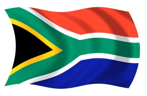 South Africa African Wavy Waving Flag Decal Sticker RH V