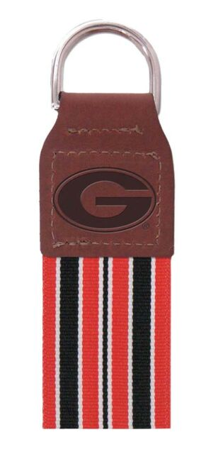 Handcrafted NCAA University of Georgia Bulldogs UGA Key Chain Wristlet NEW