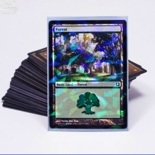 Professional Hologram Card Sleeves Precise Fit for MTG Pokemon 100 pack Blue
