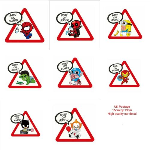 "Spiderman Pennywise Spiderman /""Baby on board/"" Sticker Deadpool  Marvel. Hulk"