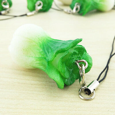 New Charming Kawaii Simulation Baby Cabbage  Key Chain Cell Phone Straps 1PCS