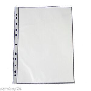 1000-Prospekthuellen-DIN-A4-GLASKLAR-oben-offen-Eurolochung-PP-Klarsicht-Huellen