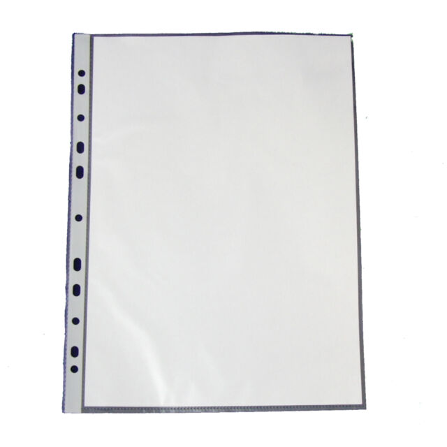 100 Brochure Wrap Din A4 Crystal Clear Open Top Euro Standard Holes Pp