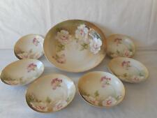 RS Germany Prussia Master Berry Bowl 6 Small Berry Dessert Bowls White Rose Set