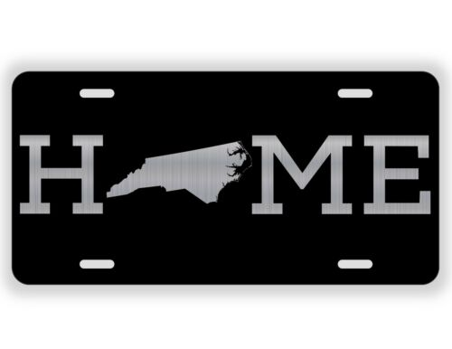 Home North Carolina License Plate Tag Vanity Front Aluminum 6 Inch By 12 Inch