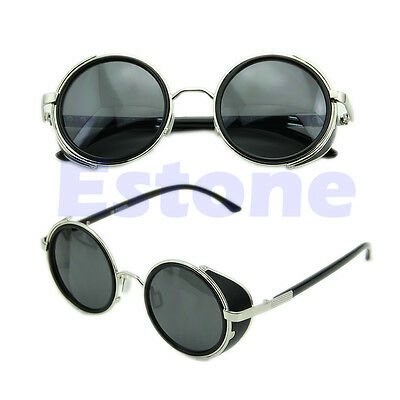 Cyber Goggles Vintage Retro Blinder Steampunk Sunglasses 50s Round Glasses
