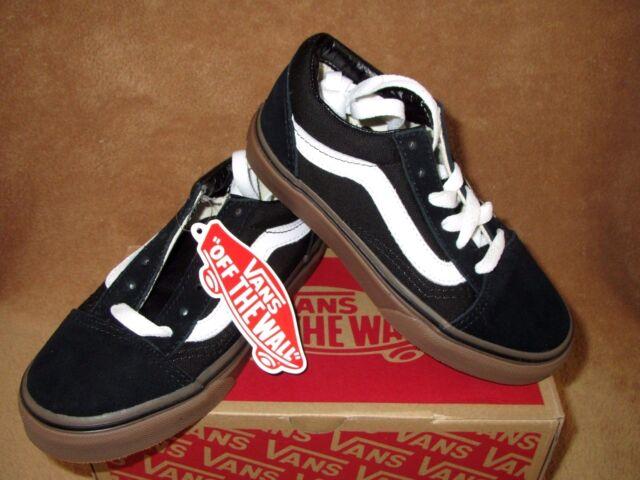 42ade901a37 VANS Old Skool Gumsole Skate Shoe Black medium Gum Youth 12y 12 for ...