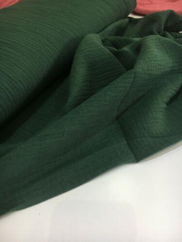 Musselin Baumwolle Spucktuch Double Gauze Gaze  Sabbertuch Stoff 0,50m grün M3