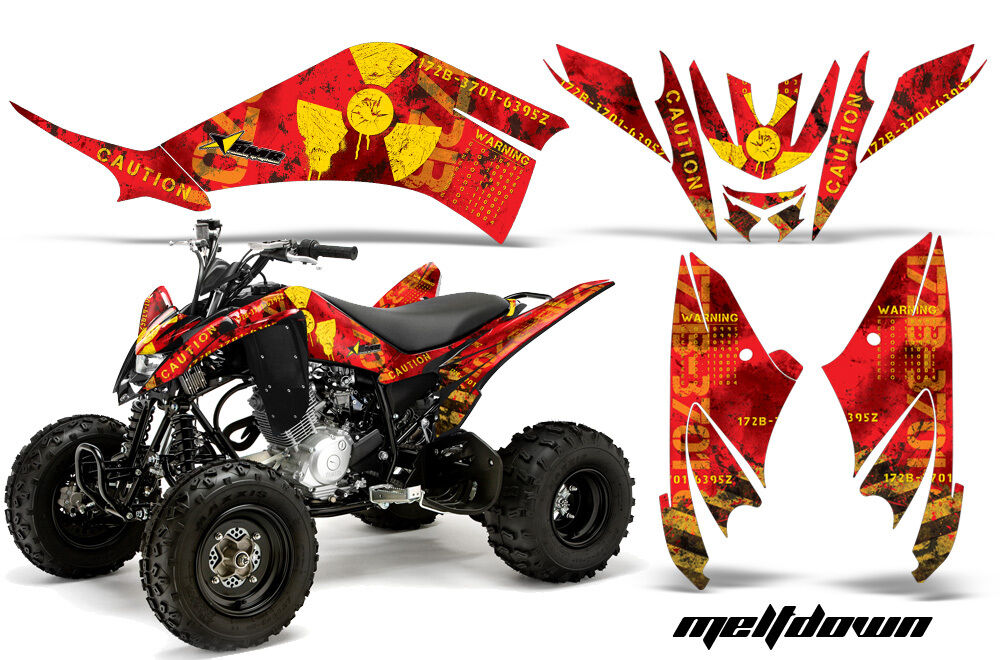 Atv Grafik Set Quad Aufkleber für Yamaha Raptor 125 Alle Jahre Melt Y R