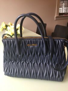 Authentic Miu Miu Matelasse 2way Bag. 12 Inches Wide X 9