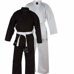 Karate-Suit-Martial-Arts-Uniform-With-Free-Belt-All-Sizes-in-Black-White