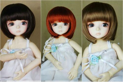 """8-9/"""" 3-Wig Set Dark Brown Carrot Brown BOB  wig for 1//3 BJD Doll Super Dollfie"""