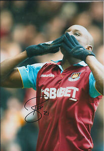Demba-BA-SIGNED-Autograph-12x8-Photo-AFTAL-COA-West-Ham-UNITED-Hammers-RARE