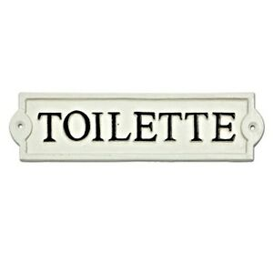 Bathroom Sign For Door Toilette Bathroom Door Sign Toilet French Powder Room  Cast Iron