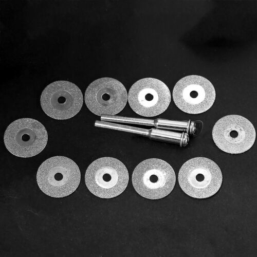 10 X Mini Diamond Cut Off Grind Discs Power Rotary Drill Wheel Die Grinder IN9