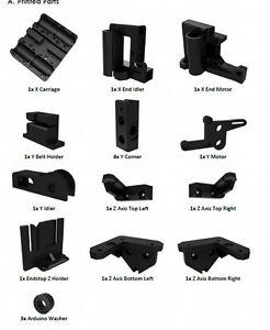 NEW-1-set-Printed-Parts-Kit-For-RepRap-Prusa-i3-Rework-PLA-3D-printer-DIY-Black