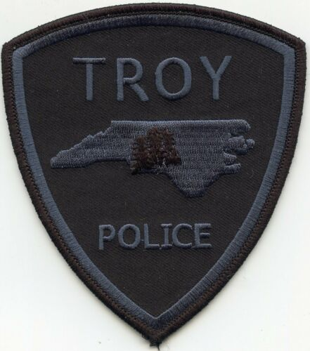 TROY NORTH CAROLINA NC subdued POLICE PATCH