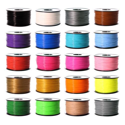 3D Printer Filament 1.75mm ABS PLA 1kg 2.2lb multiple Color MakerBot RepRap UT