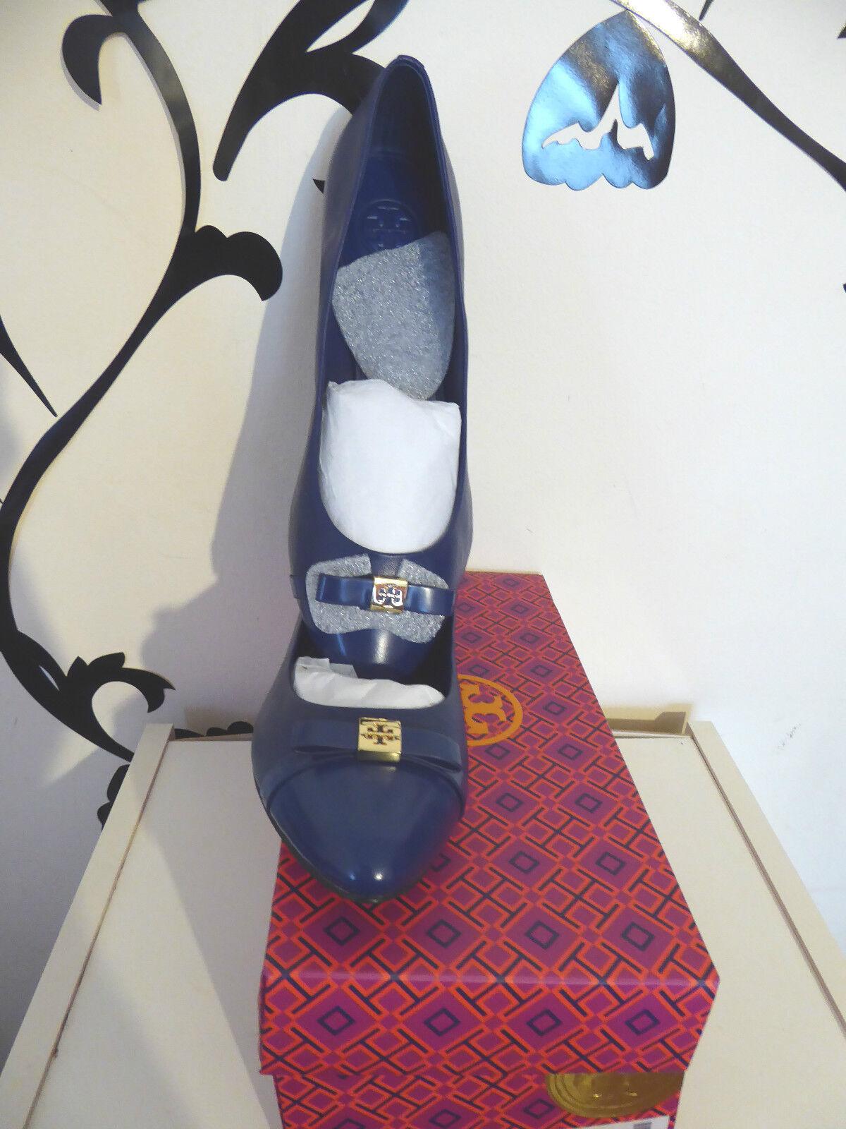 Tory Burch Hugo Uk7.5 Flat Navy Blau ULTRAMARINE/ULTRAMARINE 455 US10.5 Uk7.5 Hugo Eu 40.5 d40634