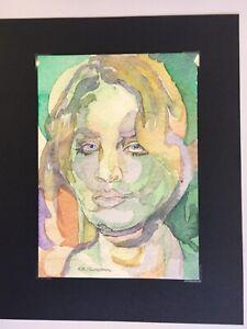 Lovely & Striking Modern Portrait of Gender-Fluid Model. Vivid Original Painting