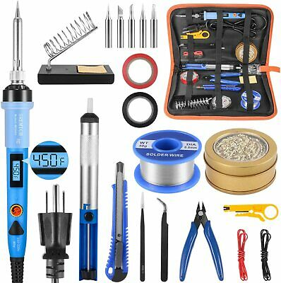 Adjustable Welding Tools with Digital-Controlled LCD Screen Soldering Iron Kit