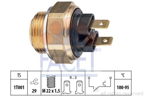 FACET Interruptor de temperatura, ventilador del radiador OPEL CORSA FORD 7.5019