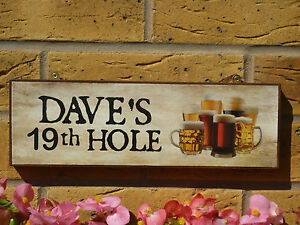 PERSONALISED-GARDEN-SIGN-GOLF-SIGN-GOLFERS-SIGN-GOLFING-SIGN-19th-HOLE-BEER-SIGN