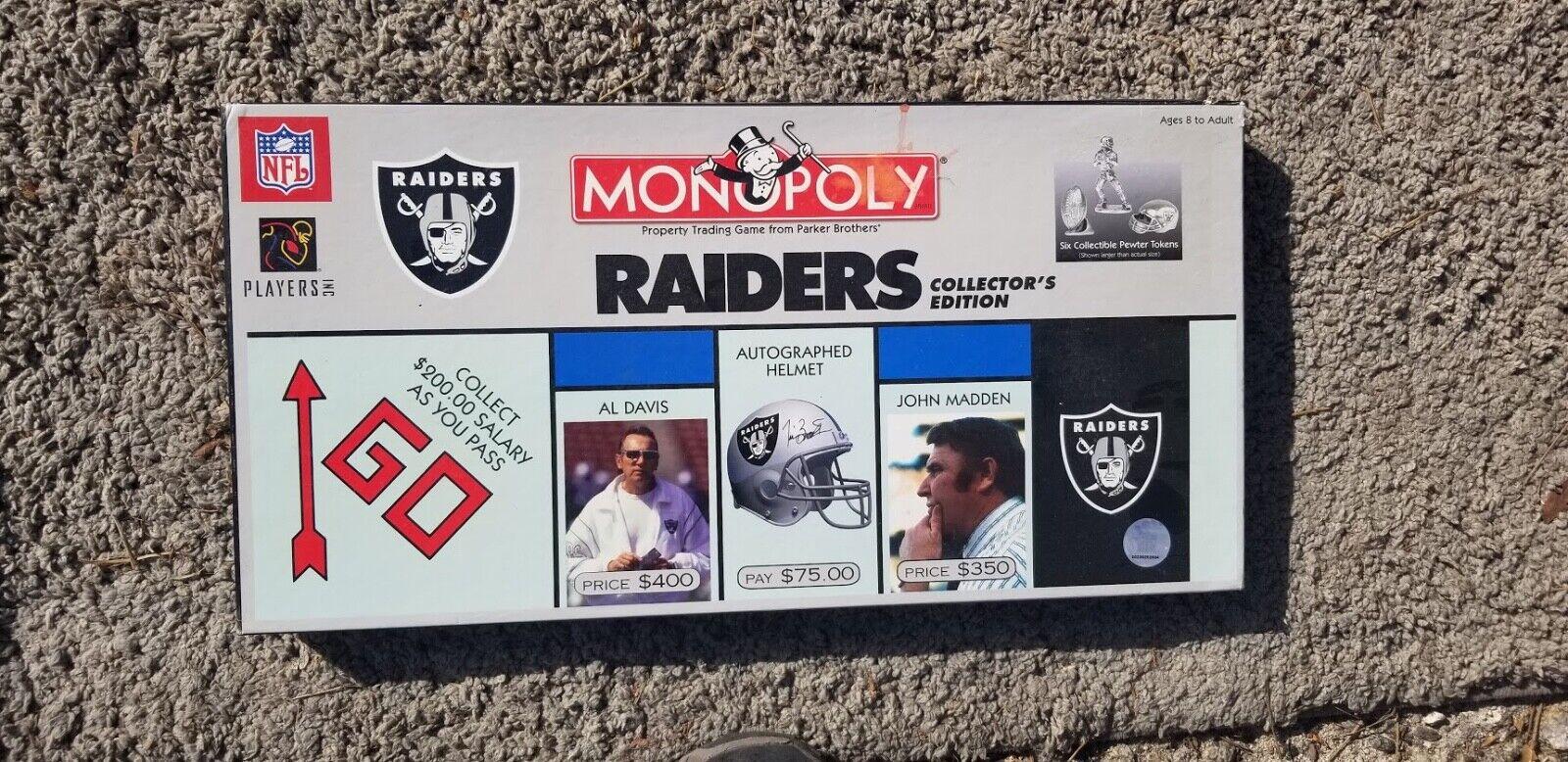 ofreciendo 100% NFL Collectors Edition Monopolio Monopolio Monopolio Oakland Raiders NFL Equipo  2008 (sin jugar)  sin mínimo