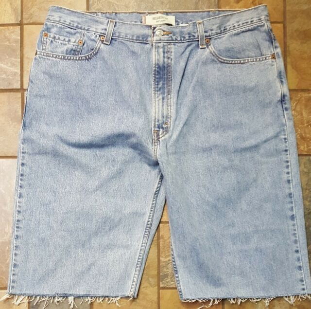 115c7aff Men's Levi's 550 Relaxed Fit Jean Cut off Shorts Size 42 Inseam 13