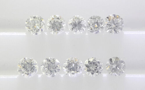 REAL 100/% NATURAL Loose Round Diamond Clarity VVS Color G-H White Colour 2.2MM